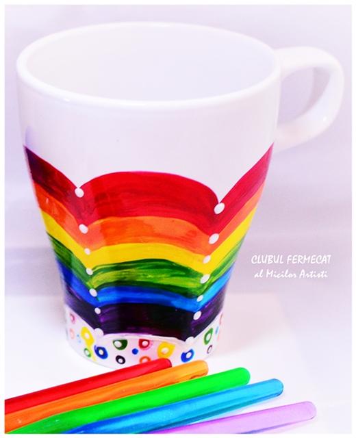 Rainbow mug - kids