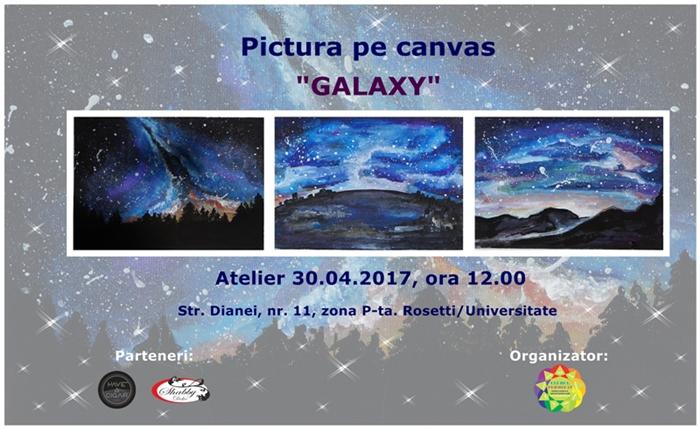 Galaxy pictura pe canvas